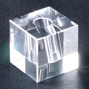 PTクリスタルキューブ プルーム・テック対応 クリスタルガラス立て