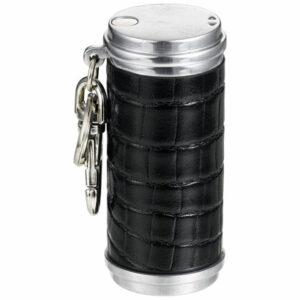 アッシュシリンダー革巻き クロコダイル 「ブラック」