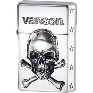 vanson × GEAR TOP V-GT-03 クロスボーンスカル シルバー