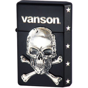 vanson × GEAR TOP V-GT-04 クロスボーンスカル ブラック