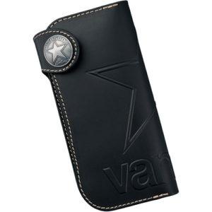 vanson ロングウォレット VP-115-01 ブラック(本牛ヌメ革•栃木レザー)