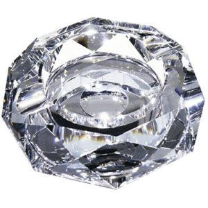 クリスタルガラス灰皿 ダイヤモンドミラー