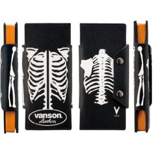 vanson 二つ折りPTレザーケース ボーン プルーム・テック対応 VP-115-08-PT